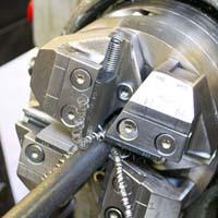 threading machine cut thread bolts