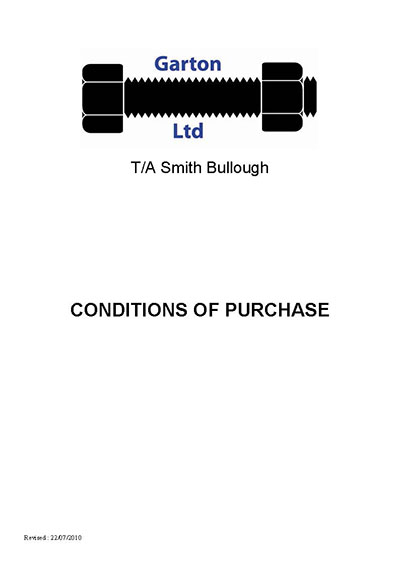 conditions of purchase