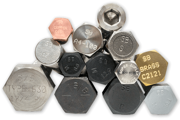 bolts in steel, stainless steel, brass, copper, super duplex