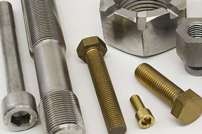 stainless steel, brass, copper, exotic alloys